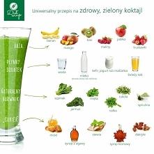 Uniwersalny przepis na zdrowy, zielony koktajl :)