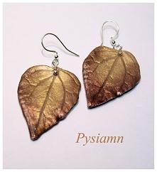 KOLCZYKI DIY z masy plastycznej FIMO by Pysiamn ... Jesiennie :)