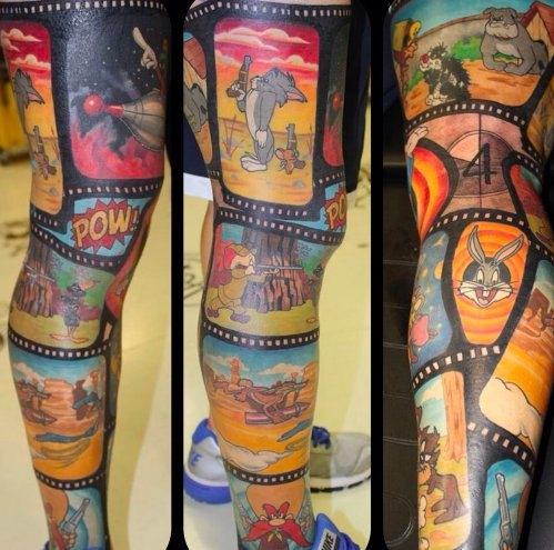 Kreskówkowy Tatuaż Na Tatuaż Zszywkapl