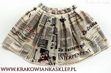 spódnica stara gazeta  krak...