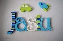 Literki Kids - dekoracja personalizowana do pokoju dziecięcego.