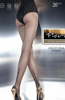 Fiore Angelina rajstopy Zmysłowe rajstopy, posiadają niewidoczną, wzmocnioną ...