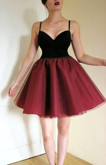 5c6ba7ad8b949 sukienka komplet gorset spódnica tiulowa crop top czarny push u.. na ...