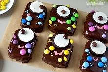 Pyszne słodycze na Halloween - potworki brownie, przepis po kliknięciu na zdjęcie!