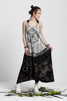 Dark mandala maxi dress