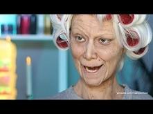 Babcia make-up  idealny na Halloween :)