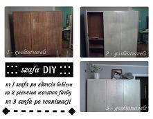 Odnowienie szafy; cały pomysł na blogu goshiatravels.wordpress. com