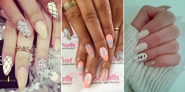 Zabłyśnij swoim manicure! 14 inspiracji na paznokcie ozdobione cyrkoniami, diamentami lub innymi błyskotkami