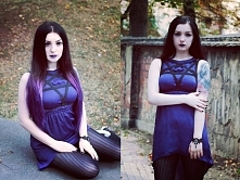 Silver Wolfie, pentagram Factory of Nightmares, biżuteria Madame Nadine, soczewki eyetoeye