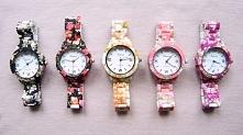 Zegarki naręczne z motywem kwiatowym