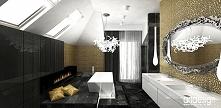 złota łazienka w stylu glamour | VOICES IN MY HEAD III - wnętrza rezydencji