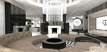 salon w luksusowej rezydencji | VOICES IN MY HEAD I - wnętrza rezydencji