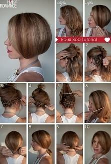 Krótkie włosy bez ścinania :)