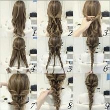 Prostą fryzura dla wszystkim PAN ,które lubią mieć spięte włosy. Fryzura w 5minut