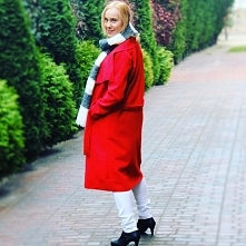 Lady in red coat :)