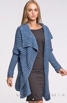 Makadamia S34 sweter jeans Przepiękny i ciepły sweter, niezapinany, doskonały...