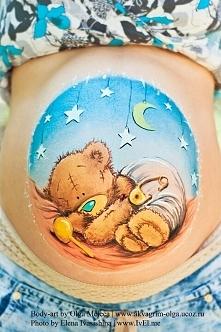 Ciążowy bodypainting- malowanie brzucha w ciąży Więcej inspiracji na Feszyn.com
