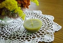 Naturalna świeczka z wosku pszczelego idealna na jesienne wieczory ;)