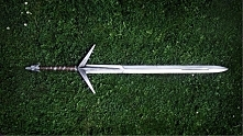 Replika srebrnego miecza Wiedźmina - Aerondight cz.1