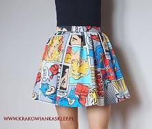 spódnica kolorowy komiks