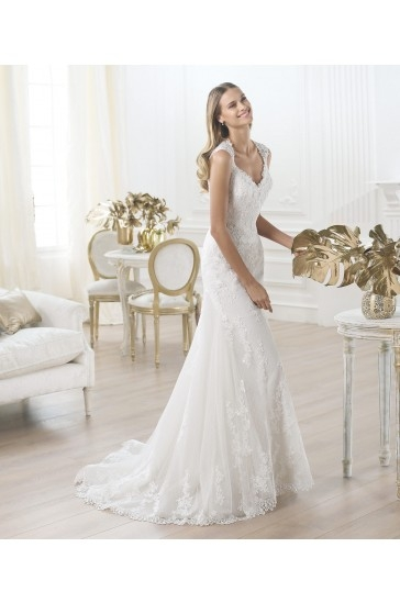 Cheap,2015 Pronovias Wedding Dresses Style Laren At Low Prices  #weddingdresses #weddinggowns #bridaldress #bridalgowns #cheapweddingdresses #weddingdresses2015 #WeddingDress #Bride #BridalGown #WeddingGown