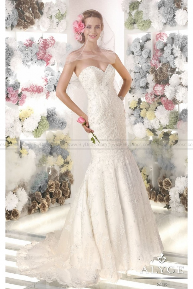 Cheap,Net Lace Gown by Claudine For Alyce Bridal 7964 At Low Prices  #weddingdresses #weddinggowns #bridaldress #bridalgowns #cheapweddingdresses #weddingdresses2015 #WeddingDress #Bride #BridalGown #WeddingGown