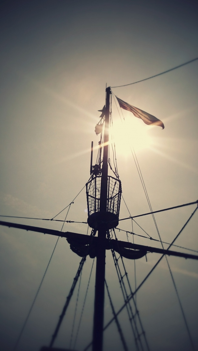 Morze tak spokojne, piękna pogoda, rejs stateczkiem, wspaniałe wspomnienie lata. Fotografia z kategorii podróże, Ustka2015, krajobraz