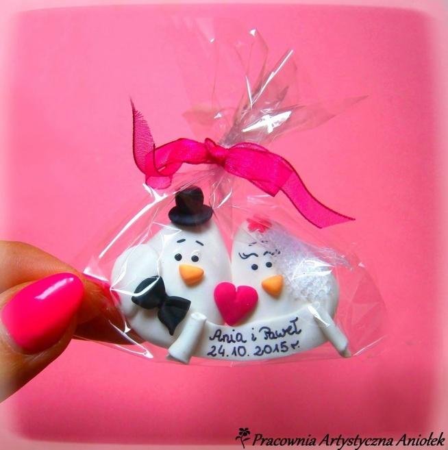 Zakochane ptaszki jako podziękowanie dla gości weselnych z personalizacją :)