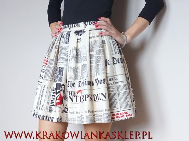 spódniczka stara gazeta