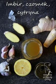 Naturalny sposób na przeziębienie: imbir, miód, czosnek, cytryna