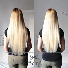 Obcięłam przyjaciółce jej piękne włosy. Poleciało 5cm, ale teraz wyglądają zjawiskowo! :)