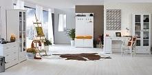 Kolekcja Parma. Białe meble drewniane.