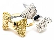 Piękne pierścionki z kokardką. Sprawdźcie koniecznie!