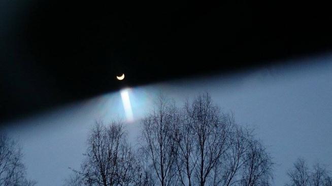 Zaćmienie słońca...wspaniałe widowisko. Fotografia z kategorii świat moimi oczami.