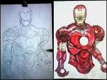 Iron Man  :-) po tygodniu malowania w końcu skończony :-D