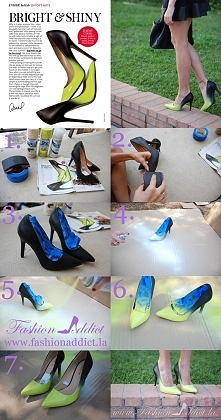 Ombre Shoes DIY