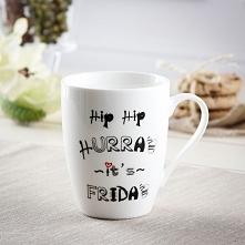 Kubek porcelanowy z napisem HIP HIP HURA 350 ml