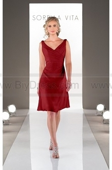 Sorella Vita Cranberry Bridesmaid Dress Style 8575