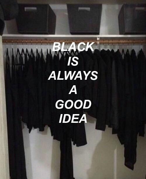 black black everywhere