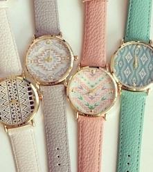Pastelowe zegarki