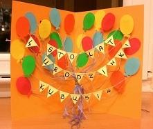 Kartka urodzinowa z balonikami 3D :)