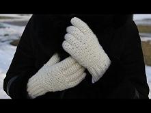 Rękawiczki na szydełku