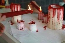 """""""Krwawe"""" świeczki na halloween"""