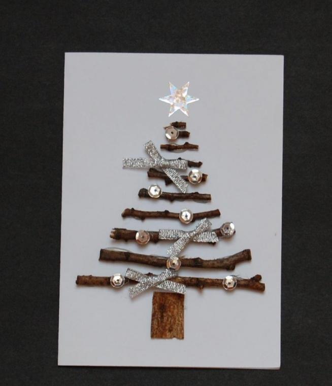 Prosta, ale efektowna kartka bożonarodzeniowa :)