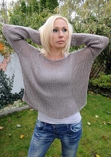 SWETER BAWEŁNIANY Sweter wy...