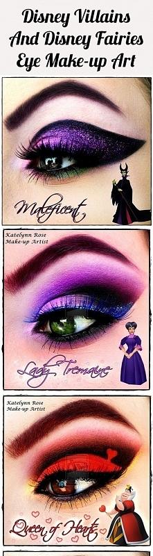 makijaż rodem z Disney'a Może w helloweenową noc któraś z Was chce stać ...