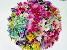 bukiet z wiosennych kwiatów ;)