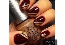 Paznokcie w kolorze bordo - eleganckie wzorki na jesień:)