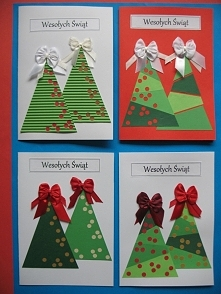 Przygotowania do świąt czas zacząć :) Kartki wykonane z dekoracyjnego papieru...