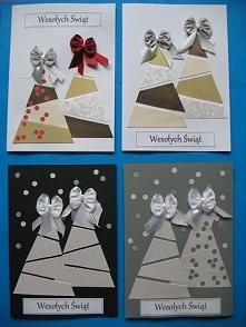 Przygotowania do świąt czas zacząć :) Kartki wykonane z dekoracyjnego papieru i eleganckich wstążeczek, każdy element wykonany przeze mnie ręcznie. Możliwość zakupu po kontakcie...
